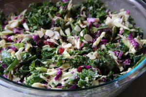 rice and tofu kale salad
